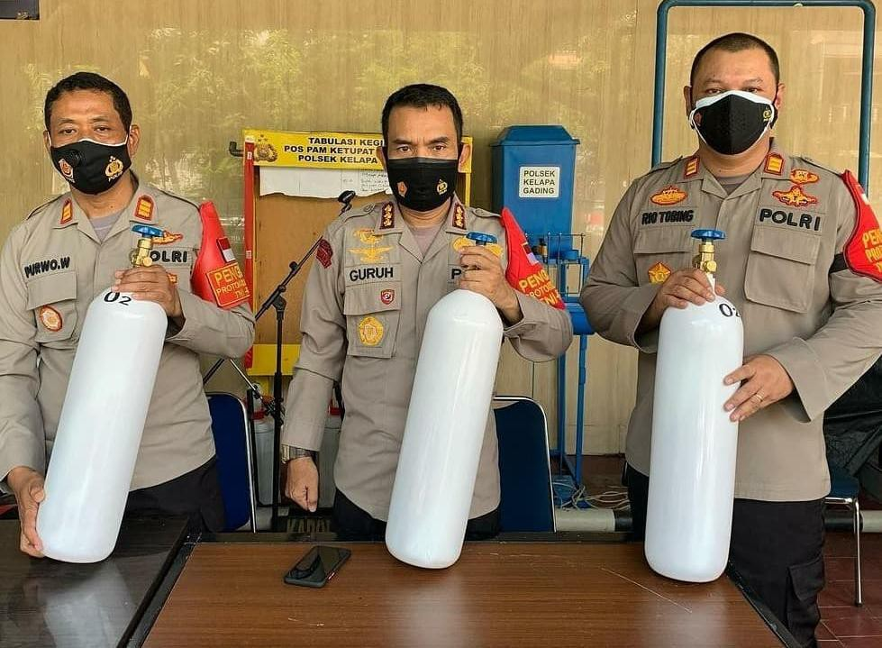 Polsek Kelapa Gading Sediakan Tabung Oksigen, Warga Bisa Pinjam Gratis