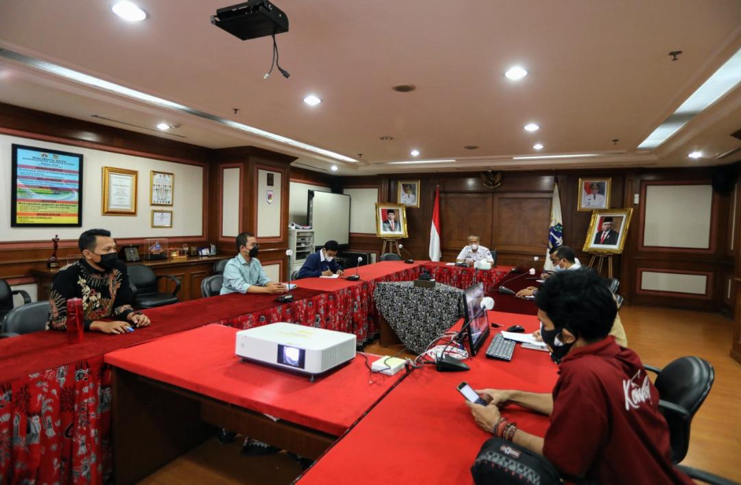 Pemkot Jakut Menggelar Audensi Dengan Sudin PPAPP Untuk Persiapan Acara HUT Kota Jakarta Dan Harganas